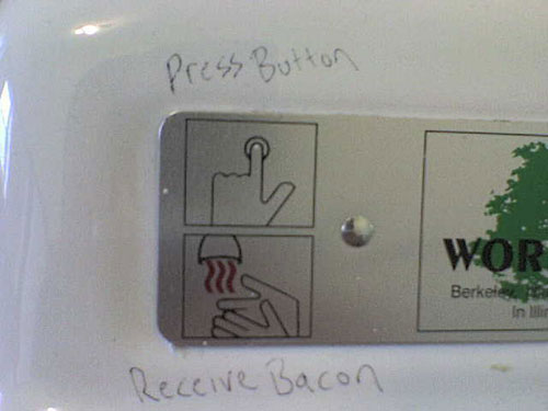 The Bacon Hand Dryer