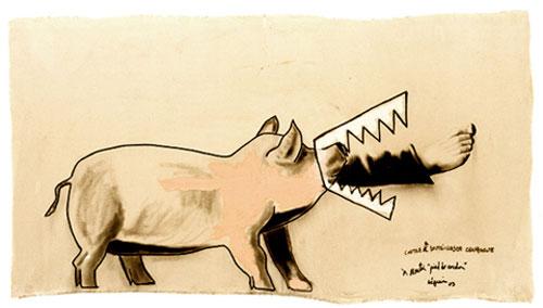 Au Pied de Cochon, Montreal - Artwork