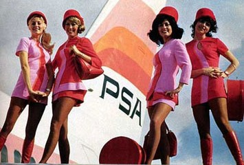 Vintage Airline Stewardesses