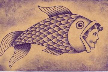 vintage tattoo sketch