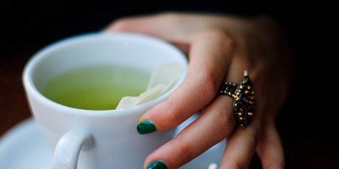 Green tea contains an amino acid that helps in relaxation