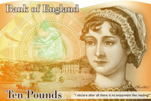 Jane Austen 10 pound note