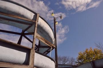 Abandoned Water Park Slide, Pennsylvania