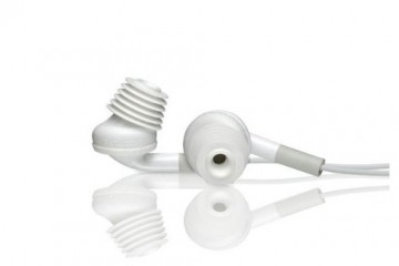 Acoustibuds: Headphone/Earphone Adapters (white)