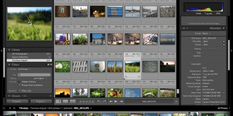 Screenshot of the Adobe Photoshop Lightroom 3 interface