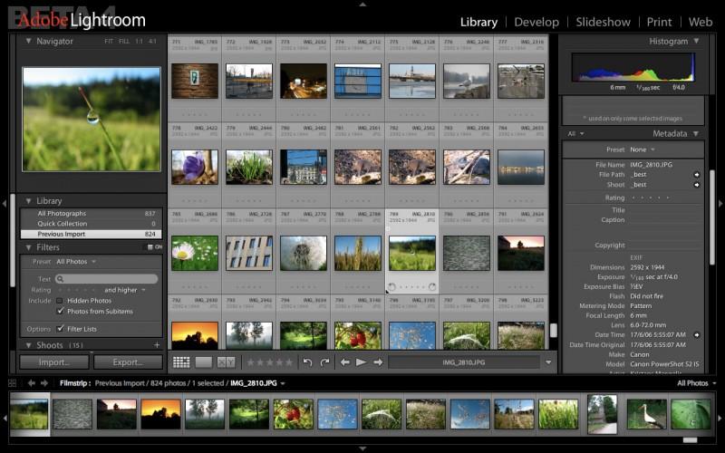 Screenshot of the Adobe Photoshop Lightroom 3 interface