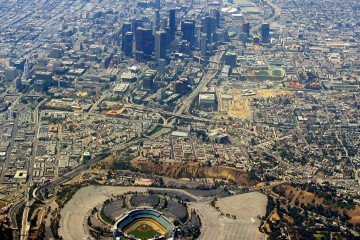 Aerial View of Los Angeles, California