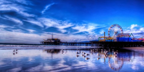 After the Storm at Santa Monica Pier, California