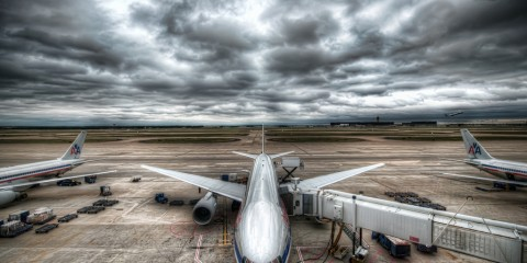 Airplane at the Gate in Dallas, Texas