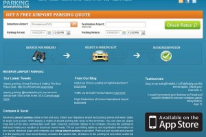 Screenshot of AirportParkingReservations.com homepage