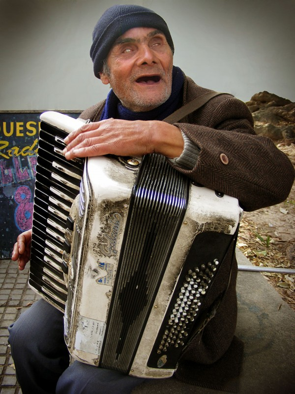 Portrait of Alfonso, the Musician of Montevideo, Uruguay