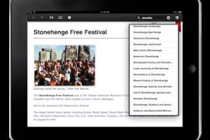 Screenshot of AllofWiki Offline: App for iPhone/iPad