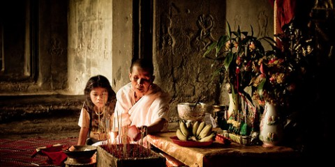 Buddhist Nun, Angkor Wat
