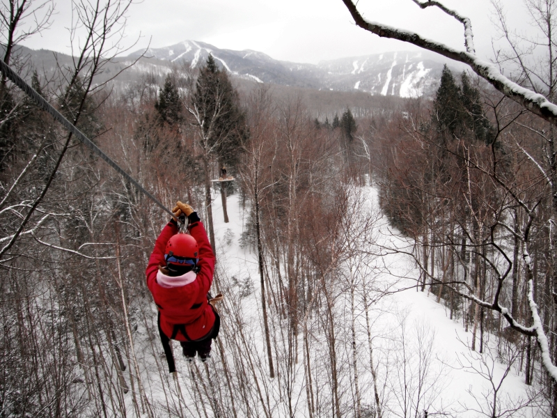 ArborTrek Winter Canopy Tour at Smuggler's Notch, Vermont