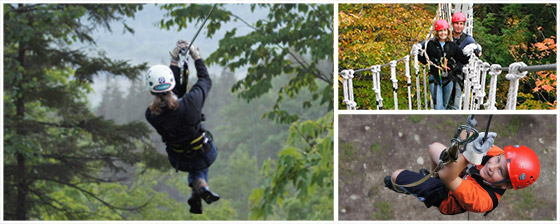 ArborTrek Zipling Canopy Tour at Smugglers' Notch, Vermont