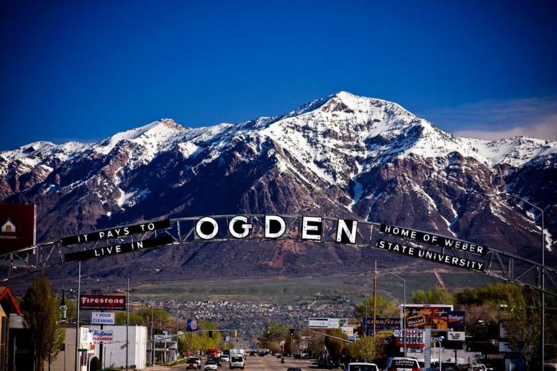 Welcome Sign in Ogden, Utah