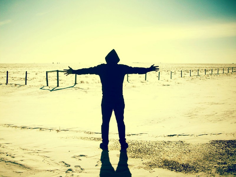 Arms Outstretched in the Desert