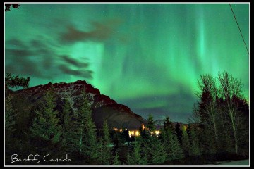 Aurora Borealis in Banff National Park, Canada