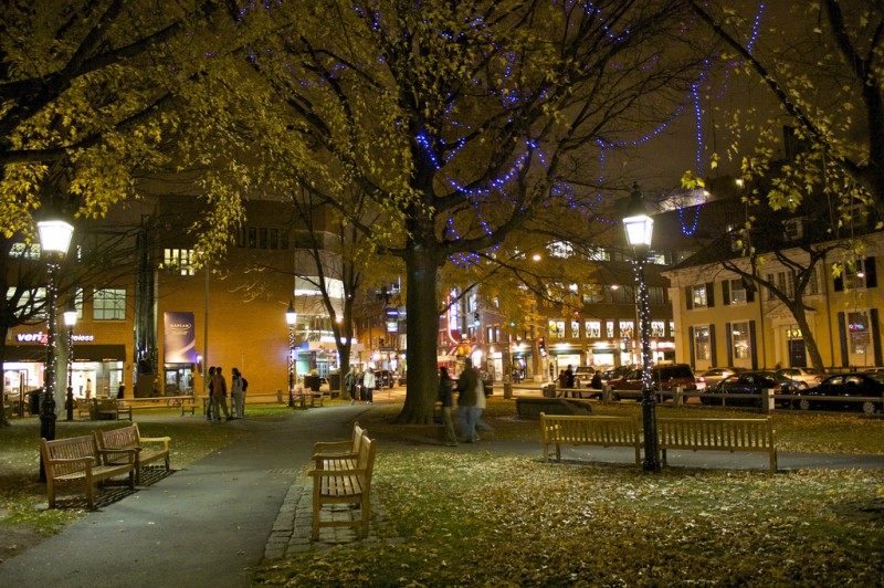An Autumn Night in Harvard Square, Cambridge, MA