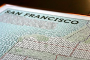 Axis Maps' Typographic Maps - San Francisco