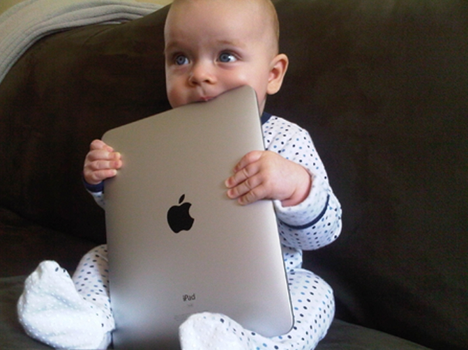 Baby Chewing iPad