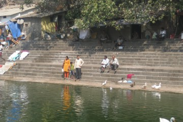 Banganga Tank (holy water) in Mumbai, India