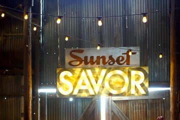 Barn Sign at California's Sunset Savor the Central Coast event