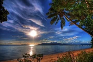 Beach in Cardwell, Queensland
