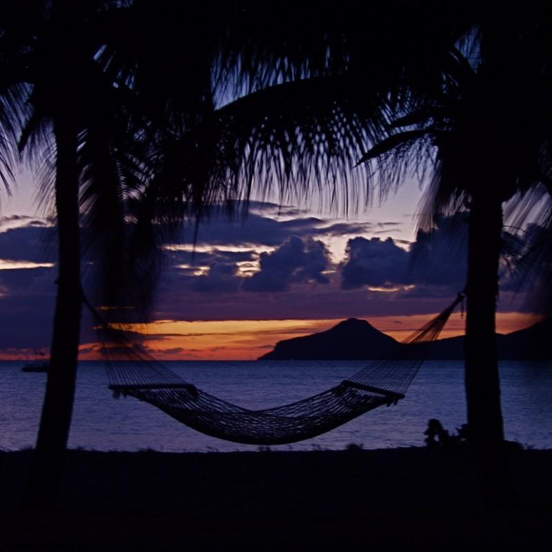 Beach Hammock, Nevis, Caribbean