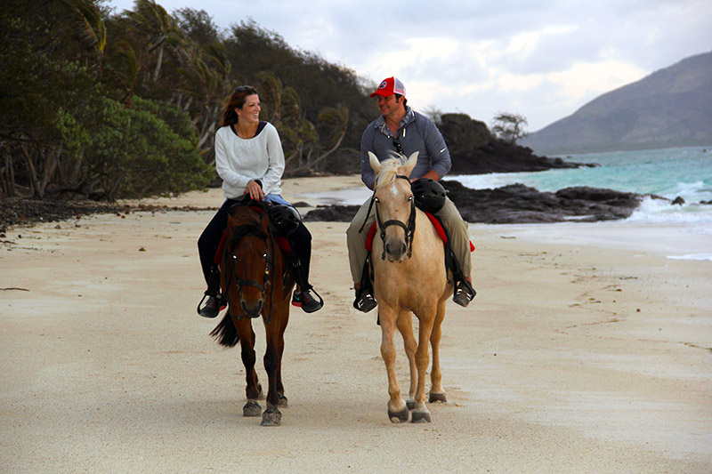 Horseback Riding on the Beach at Turtle Island Resort