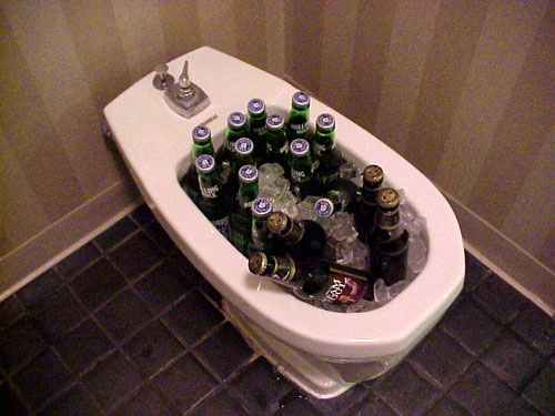 Bidet Full of Beer