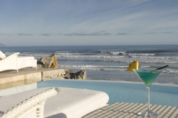 Patio View from Birkenhead House in Hermanus, South Africa