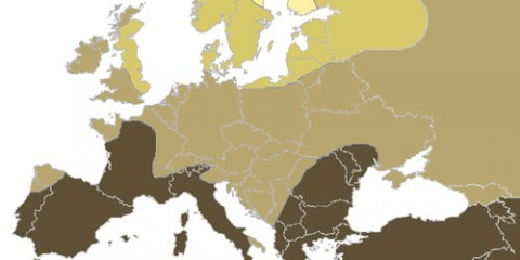 Blonde Map of Europe