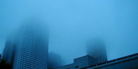 Fog in Calgary, Canada