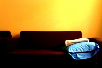 Blue Pillow on Couch