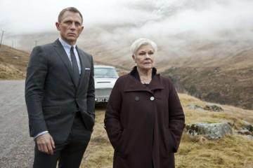 FILM:  SKYFALL (2012).  Daniel Craig as James Bond, left, and J