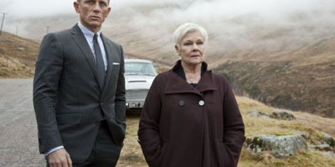 FILM:  SKYFALL (2012).  Daniel Craig as James Bond, left, and J