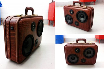 BoomCase: Vintage Suitcase-Turned-Boombox