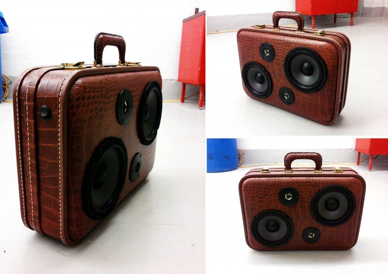 The BoomCase: A Vintage Suitcase-Turned-Boombox (for the ...