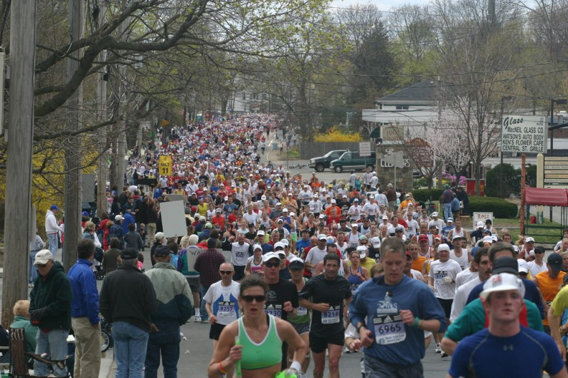 boston marathon photos. Running Boston Marathon in