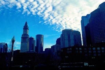 Clouds Over Boston Skyline (from North End)