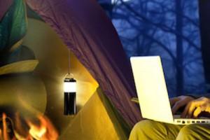 Bracketron SmartLantern hanging in tent
