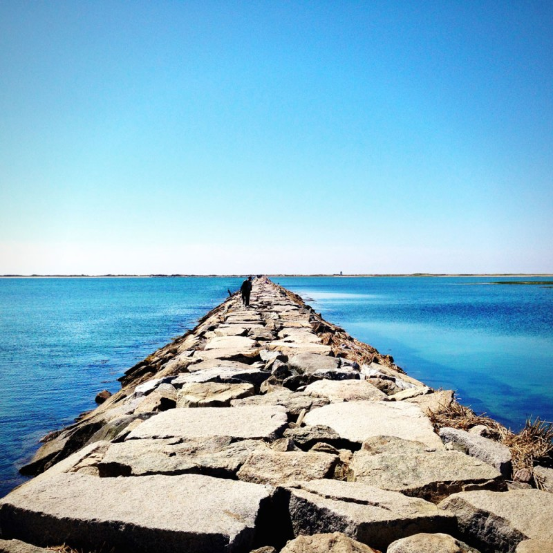 Hiking Across the Breakwater in Provincetown