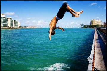 Bridge Jumper in Old San Juan, Puerto Rico