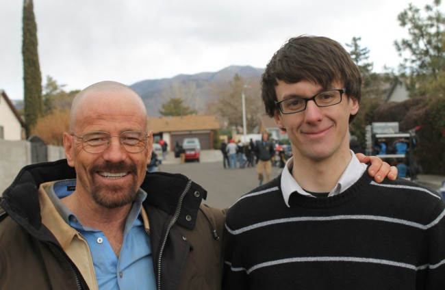 Bryan Cranston with 'Breaking Bad' Fan Josh Kurp