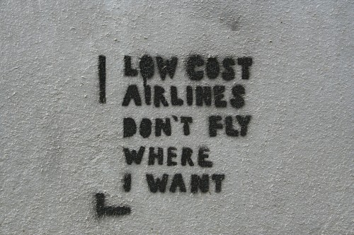Budget Airline Graffiti