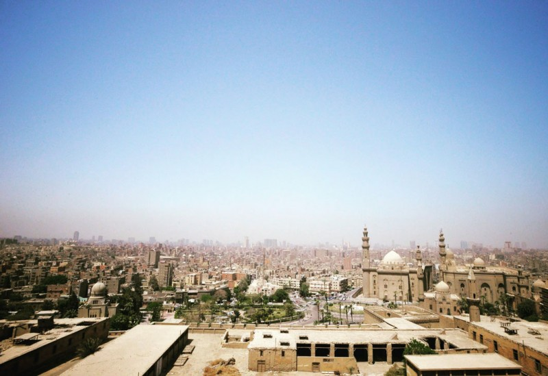 Skyline of Cairo, Egypt (seen from The Citadel)