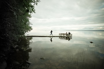 Calm moment on still water in Western Finland