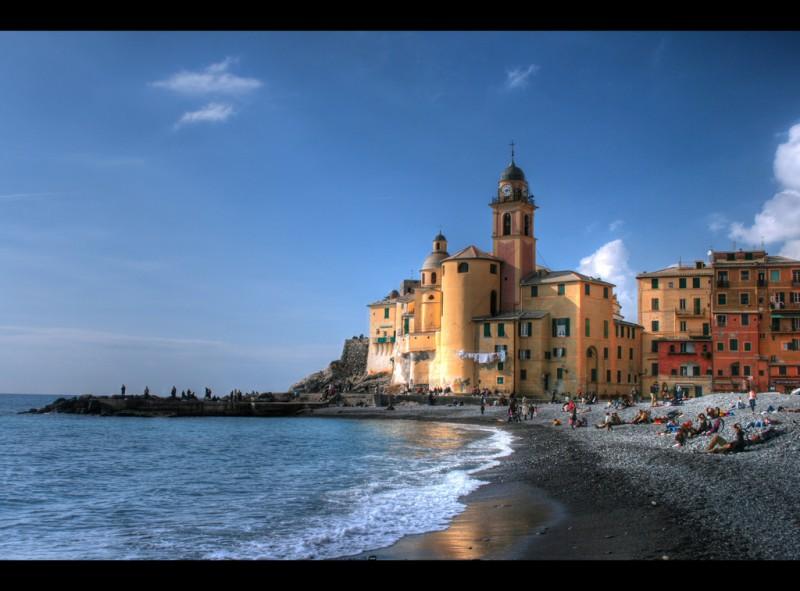 Camogli a febbraio, Genoa, Italy