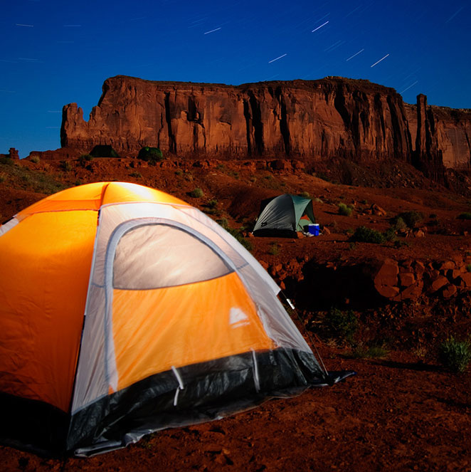 Camping at Monument Valley, Utah